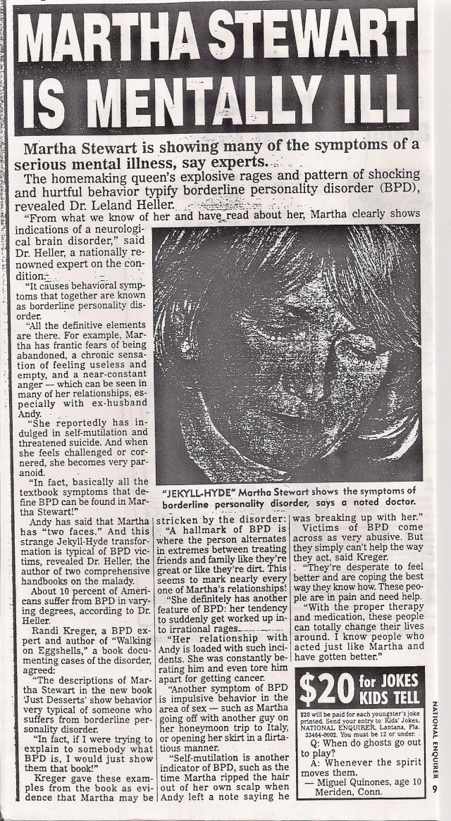 martha stewart libel
