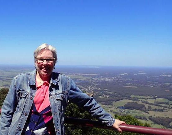 beth overlooking pacific in australia